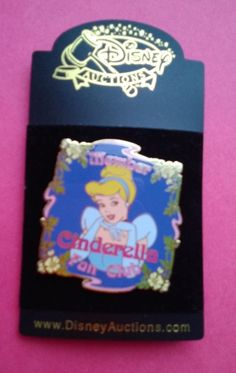 Super Rare - Limited Edition Jumbo Disney Auctions Cinderella Fan Club Pin