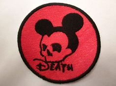 Death mouse Iron on patch