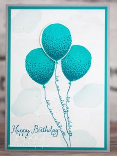 Birthday Card Featuring the Balloon Celebration Stamp Set from...