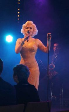 Our Marilyn Monroe Happy Birthday Dress on Suzie Kennedy. Dress available at www.ChristineCollections.com