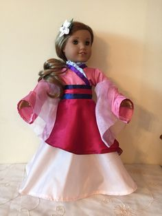 A personal favorite from my Etsy shop https://www.etsy.com/listing/498735033/american-girl-mulan-custom-outfit