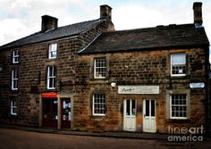 Scotland Painting - Ye Olde Country Shops - In Scotland by Doc Braham