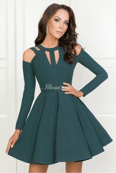 Wyprzedaz sukienek na wesele Tanie sukienki wieczorowe - Illuminate Simple Prom Dress, Prom Dresses Long With Sleeves, Hoco Dresses, Homecoming Dresses, Cute Dresses, Beautiful Dresses, Saree Blouse Designs, Chiffon Dress, Casual Dresses For Women