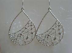 Silver teardrop earringsSilver Rhodium Plated by RandLDesign, $11.00