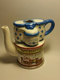 Vintage international coffee blend rich french roast sugar Cardinl Inc. in Collectibles, Decorative Collectibles, Tea Pots, Sets | eBay