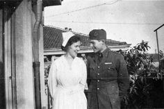Agnes von Kurowsky and Ernest Hemingway, Milan, 1918. The Ernest Hemingway Photograph Collection. John F. Kennedy Presidential Library and Museum.