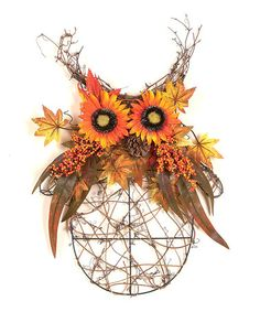 Take a look at this Twig & Sunflower Owl Figurine by Transpac Imports on #zulily today!
