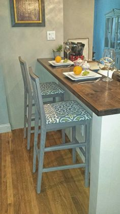 Weathered Gray Bar Chairs 2 for $75.00