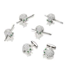 A diamond and gem-set novelty dress set (5)