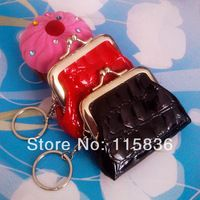 2014 new arrival leather coin purse Women s euro coin purse keychain  crocodile pattern wallet key ring 7705a48396
