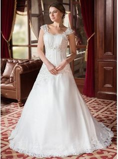 Wedding Dresses - $245.99 - A-Line/Princess Sweetheart Court Train Organza Satin Wedding Dress With Ruffle Lace Beadwork  http://www.dressfirst.com/A-Line-Princess-Sweetheart-Court-Train-Organza-Satin-Wedding-Dress-With-Ruffle-Lace-Beadwork-002000152-g152