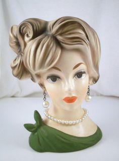 Vintage Napco Lady Head Vase C7293 by RuthsAttic on Etsy, $150.00