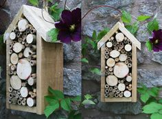 bug boxes to attract beneficial insects to the garden