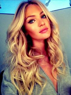 I want that hair. Blonde hair. Candice Swanepoel