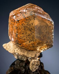 Calcite with Marcasite inclusions - Berry Materials Corp. Quarry, North Vernon, Jennings County, Indiana