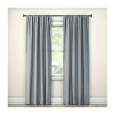 Lightblocking Curtain Panel Gray (260 UAH) ❤ liked on Polyvore featuring home, home decor, window treatments, curtains, gray curtain panels, rod pocket blackout curtains, grey curtain panels, grey valance and rod pocket curtains
