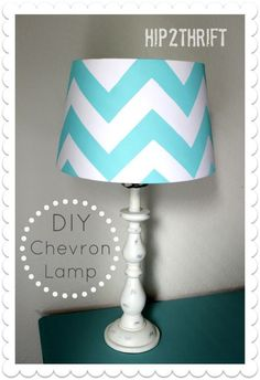 How to make your own Chevron Lamp Shade {Tutorial} - Painted on
