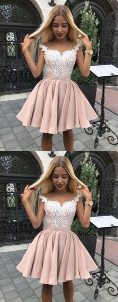 Sale Suitable A-Line Homecoming Dresses Outlet Feminine Pink Homecoming Dress, Homecoming Dress A-Line Grad Dresses Short, Cute Homecoming Dresses, Hoco Dresses, Junior Dresses, Dance Dresses, Cheap Dresses, Pretty Dresses, Formal Dresses, Short Prom