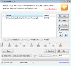 Free Burn MP3-CD 1.2 - Want to burn your favorite MP3, WMA music files to make custom audio CD? This is such an easy-to-use audio CD burning tool.