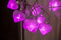 Pink Glass Hearts Garland Fairy Lights | NOMA Christmas 2016 | www.noma.co.uk