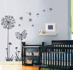 DandelionsVinyl Wall DecalStickerNature Design for by NatureStyle