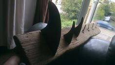 Coat hanger from Old surf Fins, Keys and Drift Wood