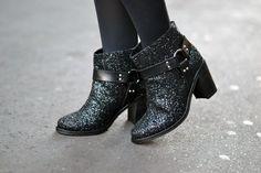 Bottines, low boots à talons hayley paillet AMERICAN RETRO