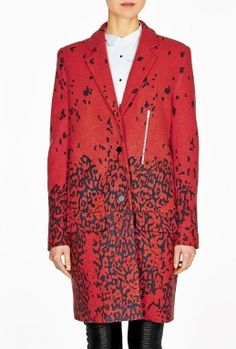 Souxsie Printed Oversized Coat by Preen    THIS COLLECTION FINDS ITS ROOTS IN EARLY BRITISH PUNK
