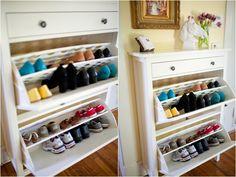 Entryway.  Ikea Shoe Cabinet. Yellow Walls. Lauryn Galloway Photography.