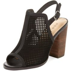 Kelsi Dagger Women's Goya Perforated Mule - Size 6 featuring polyvore women's fashion shoes no color leather mules mule shoes peep-toe shoes peep toe shoes leather mule shoes