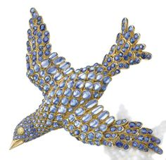 rene boivin jewelry | sapphire brooch called 'Dove of Peace', by Rene Boivin, 1939.