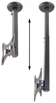 Ceiling TV Mount, Fits 10 to Monitors, Height-Adjustable, Rotation - Black Tv Hanging From Ceiling, Tv Ceiling Mount, Hanging Tv, Ceiling Tv, Outdoor Tv Mount, Tv Height, Best Tv Wall Mount, Room Setup, Wall Mounted Tv