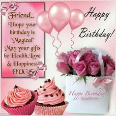 I hope your birthday is magical birthday happy birthday birthday quotes happy birthday quotes happy birthday images birthday images happy birthday friend Happy Birthday Wishes For A Friend, Birthday Wishes Cake, Happy Birthday Wishes Quotes, Happy Birthday Wishes Cards, Happy Birthday Flower, Birthday Blessings, Happy Birthday Pictures, Happy Birthday Fun, Cupcake Birthday
