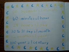 Waldorf ~ 3rd grade ~ Math ~ Measurement ~ Time ~ Equivalents ~ main lesson book