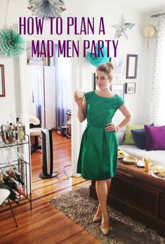 Love the Outfit / Great Costume Idea - How to Throw a Mad Men Housewarming Party Mad Men Party, Birthday Dinner Outfit, Man Birthday, Birthday Cakes, Happy Birthday, Husband Birthday, Birthday Ideas, Housewarming Party, Man Party Foods