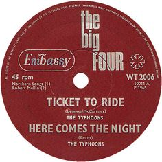 The Big Four (Ticket To Ride / Here Comes The Night) - The Typhoons (WT2006) Apr '65
