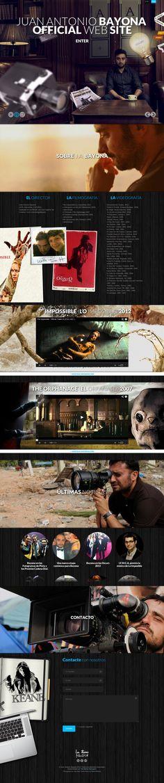 Juan Antonio Bayona Website http://www.awwwards.com/best-websites/juan-antonio-bayona-website-2 #Website #Films #Movies #TV #jQuery #Wordpress #Flexible #Parallax