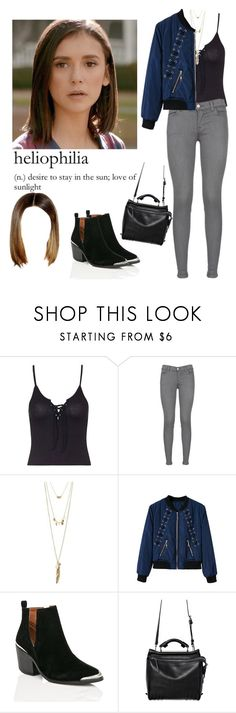 """Elena Gilbert !AU"" by demiwitch-of-mischief ❤ liked on Polyvore featuring Topshop, J Brand, Charlotte Russe, Cape Robbin and 3.1 Phillip Lim"