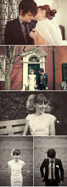 I love how candid these photos are. I want my future wedding photos to be like this. :)