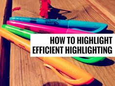 How to Highlight // Efficient Highlighting - YouTube