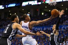 NBA Playoffs: Russell Westbrook erupts for 40 points, leads Thunder to series-tying win over Spurs - NEW YORK DAILY NEWS #NBA, #Thunder, #Spurs