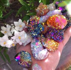 crystals uploaded by 🎭 on We Heart It Crystal Aesthetic, Spirit Quartz, Rainbow Aesthetic, Minerals And Gemstones, Rare Gemstones, Crystal Crown, Rocks And Gems, Crystal Collection, Stones And Crystals
