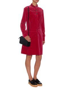 Button-through velvet dress | Tomas Maier | MATCHESFASHION.COM UK