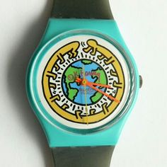 This is the Keith Haring Swatch watch I had in high school circa I believe I lost it before I graduated. Oh how I loved this watch. 80s Fashion, Vintage Fashion, Vintage Style, Fashion Ideas, Classic Style, My Style, Classic Fashion, Vintage Swatch Watch, Summer Design