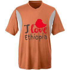 I love Ethiopia Unisex Team 365 All Sport Jersey