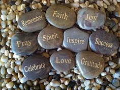 Engraved Inspirational Stones Keepsakes or Gifts to by ROCKKINIT