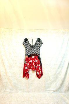 REVIVAL Women's Upcycled Boho Knit Shirt Romantic Artsy by REVIVAL
