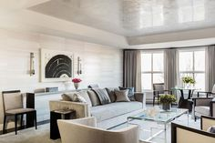 Heritage On The Garden - Elms Interior Design - Living Room with authentic Venetian Plaster ceiling Custom Home Builders, Custom Homes, Interior Design Inspiration, Home Decor Inspiration, Interior Lighting, Interior Styling, Lighting Ideas, Chandeliers, Ceiling Design