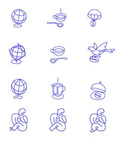 Collected Coffee - Icon Design #icon #icondesign #oneline #lineicons #line #picto #symbol #signage #coffee