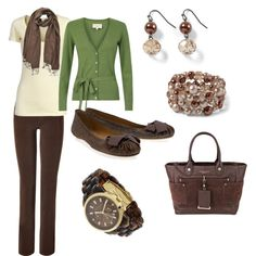 "My green sweater ""Goodbye Winter"" by pjm27 on Polyvore Still need: scarf, earrings, bracelet, shoes **check new blouses to see if they will work with the sweater"